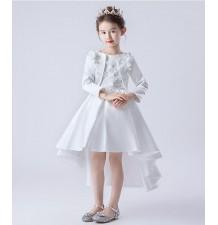 Flower girl ceremony white formal set 100-160cm