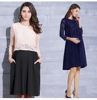 Maternity and nursing long sleeve formal dress