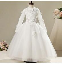 Robe rose de cérémonie fille-demoiselle d'honneur 100-150cm