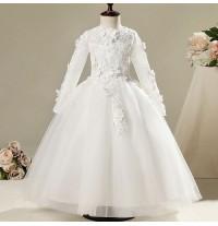 Vestito cerimonia bimba damigella Bianco 100-150cm