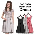 Stretch Satin Formal Maternity and Nursing Dress