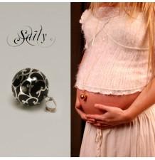 "Mexican Pregnancy Bolas ""Glamour Noir Pierres"""