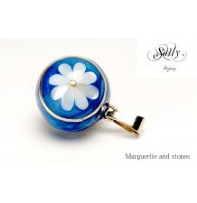 """Mexican Pregnancy Bolas """"Marguerite Bleu Roses"""""""
