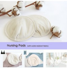 Organic Cotton Nursing Pads with water-resistant fabric