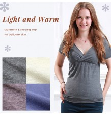Short Sleeves Maternity & Nursing Inner Top for Delicate Skin