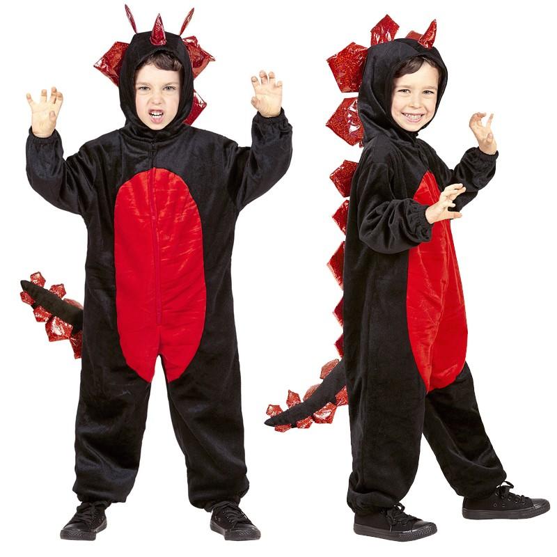 Costume de dragon noir en peluche 4-5 ans