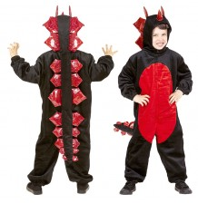 Plush black dragon costume 4-5 years