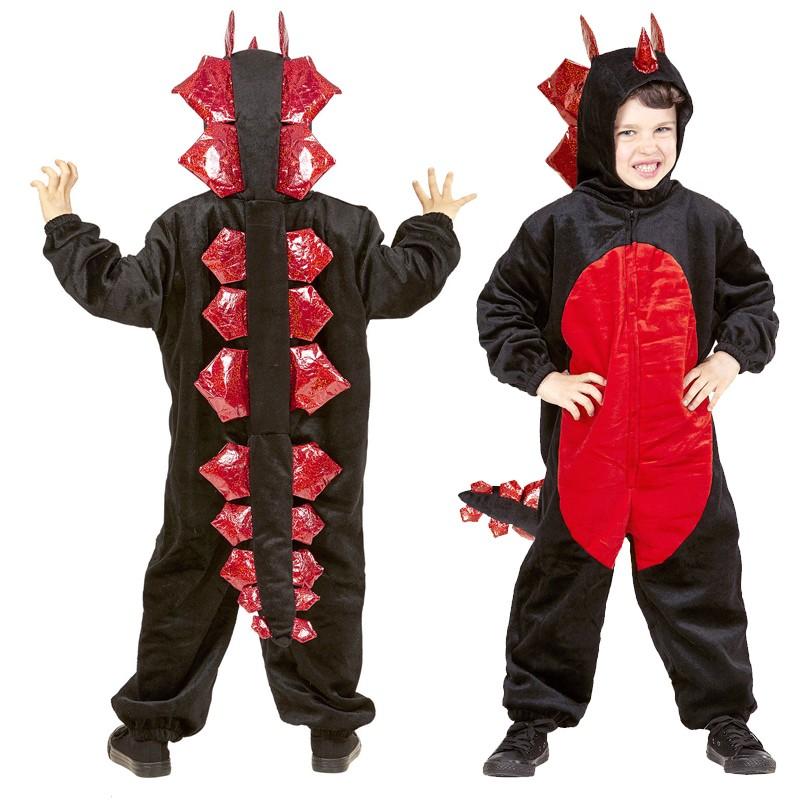 Halloween Costume 4 5.Plush Black Dragon Costume 4 5 Years