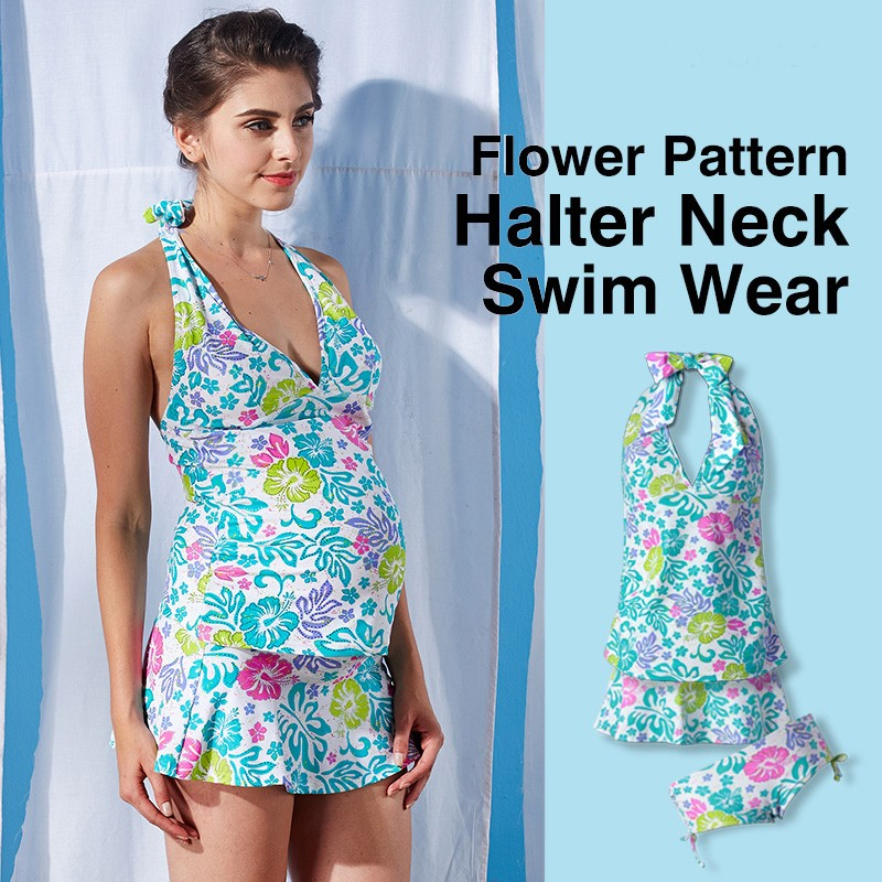 Costume Mare Premaman 3 Pezzi Tankini + Gonna
