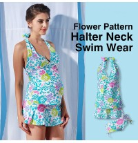 3 Piece Maternity Nursing Tankini + Skirt Swimsuit Set