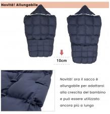 """Sacco Passeggino Multiuso Allungabile in Piumino """"Extra"""""""