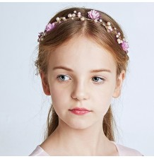 Decorated girl headband  for ceremonies