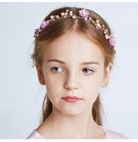 Decorated girl headband  for ceremonies
