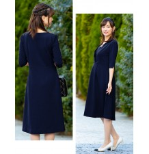 Maternity and nursing 3/4 sleeve ceremony dress