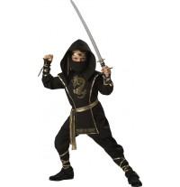 Costume Carnevale Halloween Incharacter Guerriero Ninja 3-14 anni