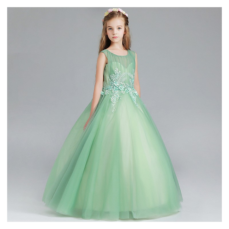 Vestiti Verdi Eleganti.Abito Cerimonia Per Damigella Sweet Mommy