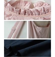 Robe de grossesse et allaitement de cérémonie bicolore 2 pièces