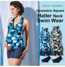 3 Pieces maternity nursing tankini + pants swimsuit set