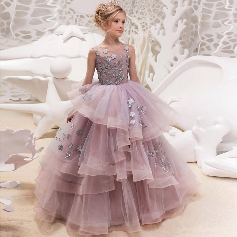 Flower girl formal dress 110-160cm