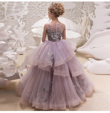 Flower girl formal dress 110-160cm
