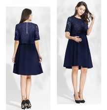 Maternity and nursing short sleeve ceremony dress
