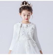 Bolerino Cerimonia Bambina Bianco 90-160cm