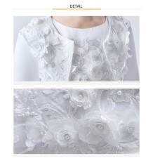 Girl Formal Bolero White 90-160cm