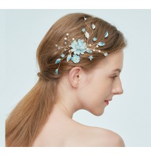 Light blue hairpin for ceremonies