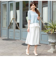 Maternity and nursing short sleeve lace top
