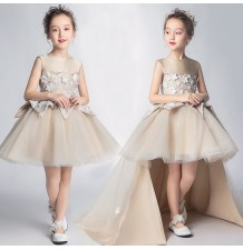Flower girl formal dress gold 110-160cm