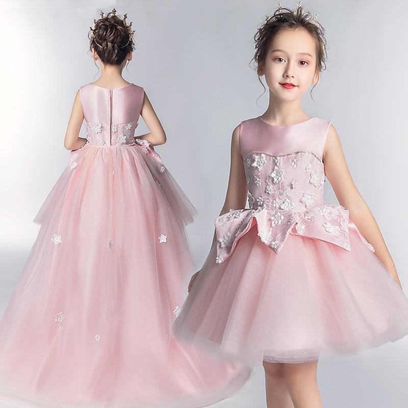 pretty nice 13682 50190 Vestito cerimonia bimba damigella rosa 110-160cm