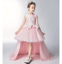 Flower girl formal dress pink 110-160cm