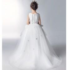 Flower girl formal dress white 110-160cm