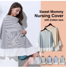Nursing cover with cotton lace