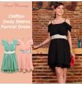 Vestito Cerimonia Premaman Allattamento di Chiffon