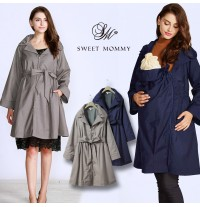 Trench Mother-Coat with Baby Pouch