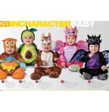 Costume Carnevale Unicorno Rosa per Bambina Incharacter 0-24 mesi