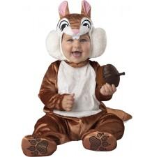 Costume Carnevale Scoiattolo per Bambino Incharacter 0-24 mesi