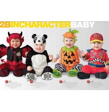 Costume Carnevale Halloween Diavoletto Incharacter 0-24 mesi