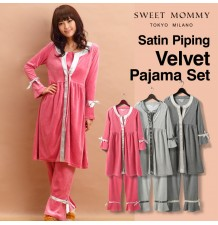 Maternity Nursing Winter Chenille Pyjamas