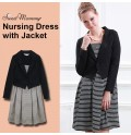 Maternity Nursing Formal Dress with Jacket