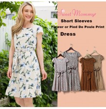 Maternity and nursing short sleeve dress