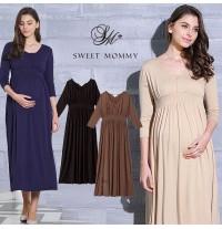 Maternity Nursing Maxi Dress