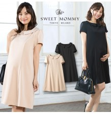 Maternity Nursing Formal Dress With Removable Collar