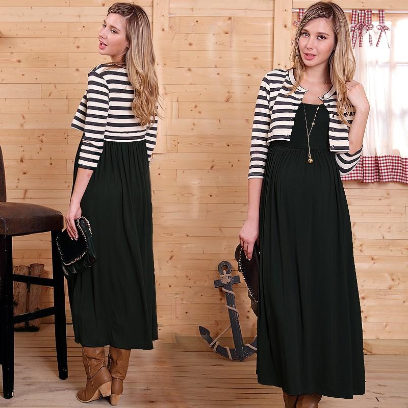Vestito Maxi Finto Completo Premaman Allattamento