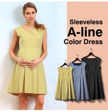 Maternity and nursing sleeveless dress