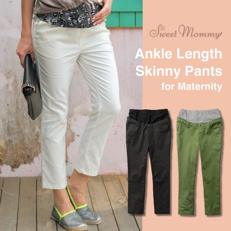 Adjustable Waist Fine Linen Cotton Maternity Trousers