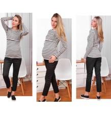 Pantalon Grossesse taille réglable en Coton