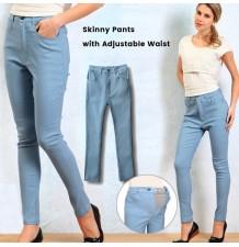 Pantaloni Skinny Premaman a Vita Regolabile