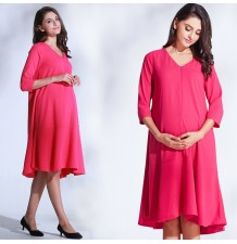 Maternity and nursing short sleeve dress